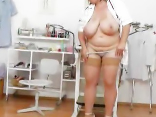 Big Tits  Natural Nurse  Stockings Stripper Uniform