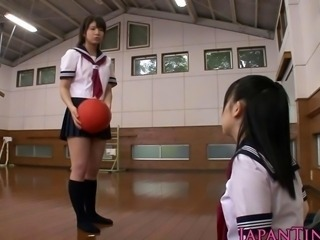 Closely guarded Japanese schoolgirls love deployment cock