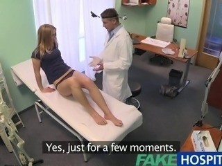 FakeHospital Unpretentious blonde gets the doctors massage