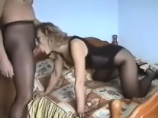 Horny Russians With A Pantyhose Fetish