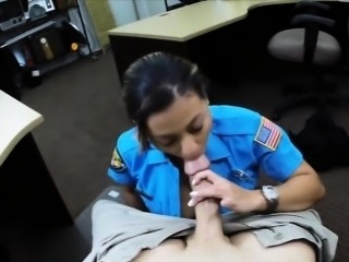 Unselfish boobs police officer sucks and fucked the pawnkeeper
