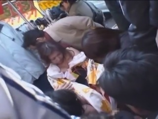 japanese girl gangbang in a crowd