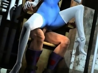 Blue 3D babe getting fucked hard by The Juggernaut