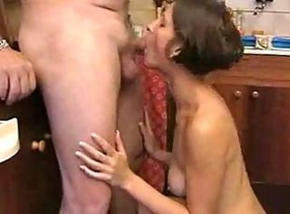 Mature Couple Fucking in Cookhouse BVR