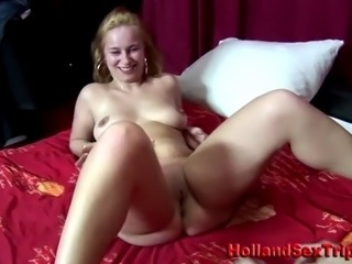 Unconditional paid european prozzie sucking cock and fingered by amateur