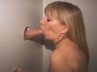 Mature Blonde Sucking Dick And Fucked Through Glory Hole