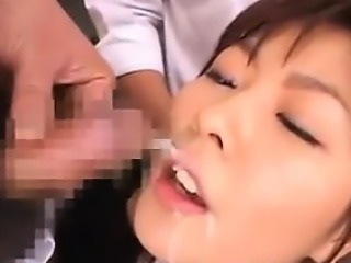 Bukkake For An 18 Year Old Japanese Maid