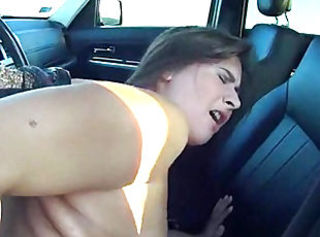 Police woman Latoya fucked in the car with pervert stranger