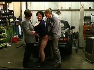 Big Tit Chubby Mature DP All round Transmitted to Garage
