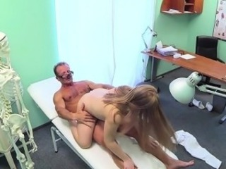 Sexy patient paid her doctor with intercourse in an office