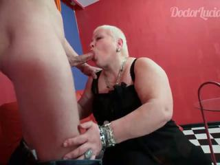 Mature nurse swallowing young guys sausage by enginecash
