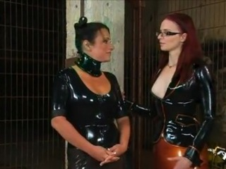 Lesbo dolls inside Latex bonking huge
