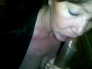 White wife sucking black cock