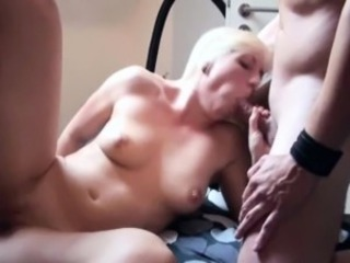 Skinny German Teen in privat Gangbang with 3 grey hard up persons