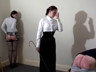 Caned by Strict Governess