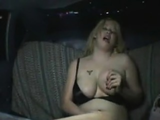Fat Girl Masturbates The Back Of A Taxi