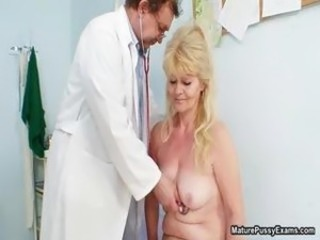 Dirty old blonde mature slut gets part3