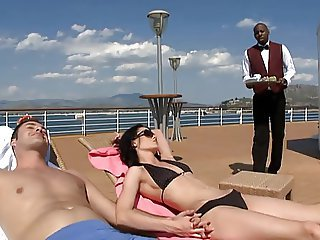 Aliz threesome with hubby and black guy