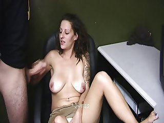 Handjob from Brunette After a Breakup