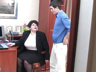 Mature Mom Old and Young Teacher