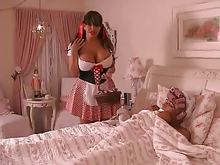 69 Pose Sucking With A Busty Tgirl