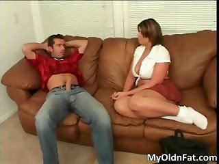 Awesome brunette slut sucks stiff cock part4