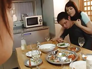 Asian Drunk Family Kitchen Mom