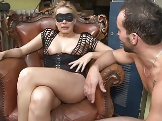 French milf blonde destroyed away from hard dick