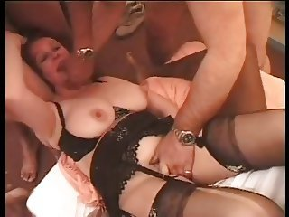 French MILF command with one mens