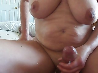 Amateur  Big Tits Handjob Homemade Mature Natural Older  Wife