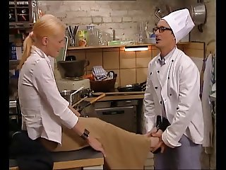 Hot Italian Comme �a Fucked in Kitchen