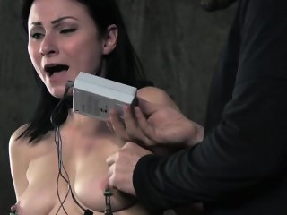 Nipple pumped bdsm hold a session whipped