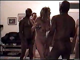 Sexy Milf Tie the knot Foursome With Blacks And Whites