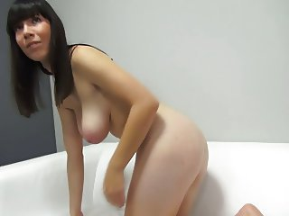 shy czech brunette big tit casting by eliman