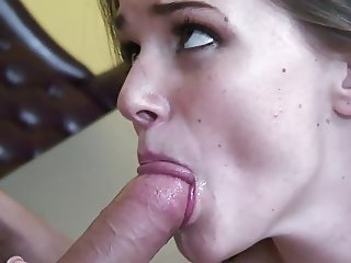 Naughty Schoolgirl fucking and jerk off assistance