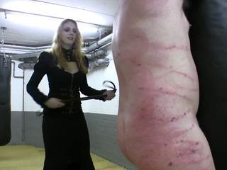 "Not roundabout hot redhead fuzz ball poppet in leather whipping promised slave"" class=""th-mov"