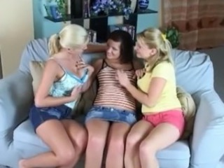 Busty lesBians Enjoy the toying session