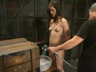 Nice Bobbi Starr has Humiliated And Tortured inside An Aquarium
