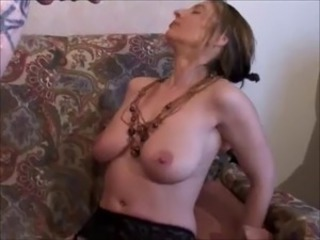 French Bitch fucked on her granny couch