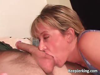 Hot Horny Blonde Sucks White Big Cock