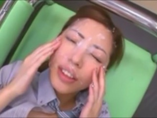 Cute Japanese Main Bukkake - Facials and Cumshots
