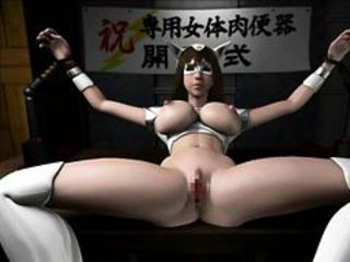 Hot busty 3D hentai slave gets fucked