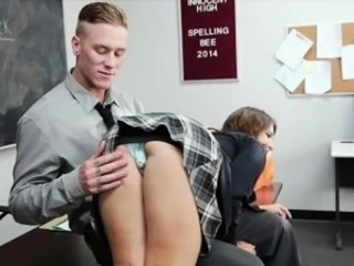 Naughty schoolgirl Ariana Grand slammed by her nasty teacher