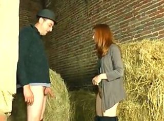 Teen fucked by Elderly Grobian Man in Stable _: old+young redheads