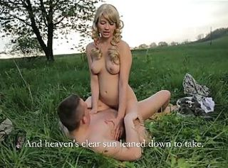 Adorable czech teen Blanka Nesty fucking outdoors _: forest innocent