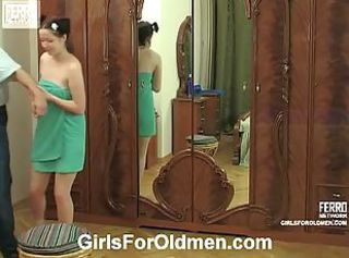 Fresh teen Melanie got her tight cunt screwed _: old man young woman round ass