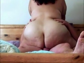 Cumming inside BBW cowgirl