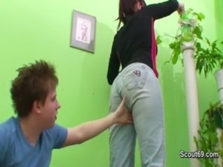 German Mom interdicted and fuck hardcore with young teen varlet free
