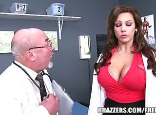 Slutty doctor cures a patient with her cunt _: uniform
