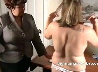 Full-grown Teacher Mistress fiddles with her young partisan _: bbw big boobs lesbians matures old+young